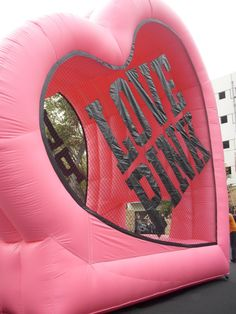 Big inflatable PINK thing. I want to play in it haha.