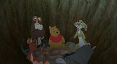 Winnie the Pooh and all the other animals are just chilling out there in the woods when Christopher Robin is at school.