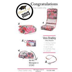 Vera Bradley Graduation Gifts Cherry Blossom