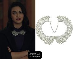 Who: Veronica Lodge (Camila Mendes) What: [niceeshop™ False Collar Necklace – … - Foulard Veronica Lodge Fashion, Veronica Lodge Outfits, Jewelry Center, Cute Jewelry, Faux Pearl Necklace, Collar Necklace, Camilla Mendes, Riverdale Fashion, Old Hollywood Glam