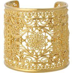 Isharya Aw12 Indian Filigree Cuff ($315) ❤ liked on Polyvore