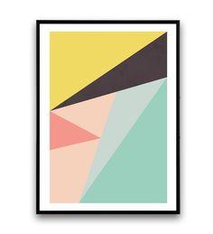 Impression abstraite imprimé géométrique Art par Wallzilla sur Etsy