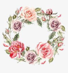 Hand-painted watercolor wreath