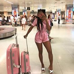 Touch down! 🏝 Don't miss the place just go back and spend a week! 💁🏾♀️ Traveled so comfy in my set like my PJS😎 Airport Travel Outfits, Cruise Outfits, Vacation Outfits, Summer Outfits, Casual Outfits, Airport Attire, Airport Style, Fashion Killa, Look Fashion
