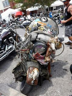Rat bike.Think this is one I saw parked at Thunder Beach in Panama.