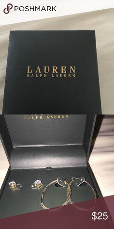 Ralph Lauren set of earings Brand new in box 2 sets of Ralph Lauren earrings. Ralph Lauren Jewelry Earrings