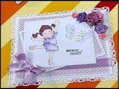 Tarjeta de scrapbook y pintura de sellos Magnolia - YouTube