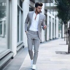 Suit fashion - Men's Classic Solid Color Slim Suit Set Mode Costume, Herren Outfit, Mode Masculine, Mens Fashion Suits, Fashion Clothes For Men, Fashion Night, Winter Fashion, Mens Clothing Styles, Apparel Clothing