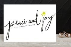 Neon Star Business Holiday Cards by Erin Deegan at minted.com