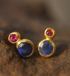 Gold earrings made in Europe will have different markings. For instance, will be marked as will be marked as and 12 K will be marked as Platinum Earrings, Sapphire Earrings, Gold Earrings, India Jewelry, Gold Jewelry, Jewelery, Types Of Earrings, Ear Studs, Pendant Earrings
