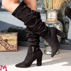 Cizme cu Toc Knee Boots, Booty, Ankle, Shoes, Black, Fashion, Moda, Swag, Zapatos