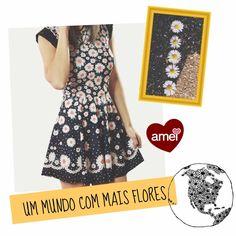 ️️Estampa de flor que trás o amor 🌼 - encomendas nos tamanho P/M/G❤️ #lojaamei #vestido #margaridas #flor #inverno #novidade