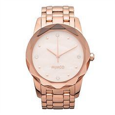 Really want to spoil Mum? Why not surprise her with this karge Round Glimmer Watch from New Things To Try, David Jones, Metal Bands, Gold Watch, Mother Day Gifts, Rose Gold, Bling, Watches, Shopping