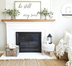 Here is a post related with fireplace. Modern Farmhouse Living Room Decor, Farmhouse Interior, Farmhouse Style, Rustic Farmhouse, Modern Living, Farmhouse Design, Modern Room, Industrial Farmhouse, Modern Decor
