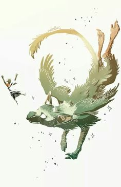That epic moment when Trico just barley caught him with his tail  my jaw dropped   so fast