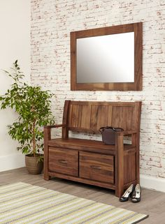 solid walnut hidden home office. mayan walnut monks bench with shoe storage solid hidden home office r