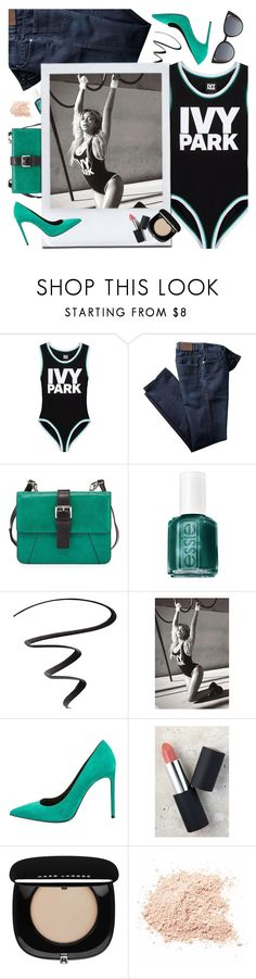"""""""Slay All Day: Style Beyonce's Ivy Park!"""" by ioanathe92liner ❤ liked on Polyvore featuring Ivy Park, Charles Jourdan, Essie, L'Oréal Paris, Topshop, Yves Saint Laurent, Sigma, Marc Jacobs, Fendi and Beyonce"""