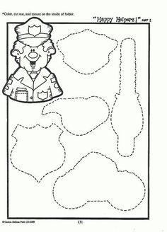 Matching file folder game 2/7 Preschool Education, Preschool Themes, Preschool Crafts, Preschool Activities, File Folder Activities, File Folder Games, File Folders, Community Helpers Crafts, Community Workers
