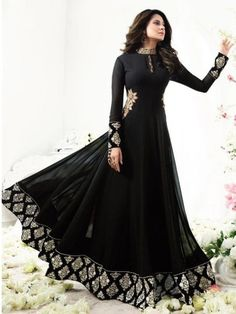 Anarkali Suit: Buy Latest Designer Anarkali Suits for Women Online Indian Gowns Dresses, Pakistani Dresses, Bridal Dresses, Flapper Dresses, Indian Attire, Indian Outfits, Casual Dresses, Fashion Dresses, Party Kleidung