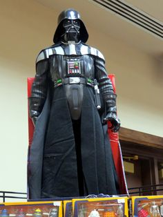 https://flic.kr/p/NWnapj | Darth Vader spotted at the #MidwestToyFest in Indy. | Most of all the toys were geared after video games and movie action heroes even the dump truck I bought was also a transformer and I had no idea how that worked until a much younger family member showed me what it became.