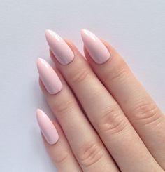 Pastel Pink Stiletto nails, Nail designs, Nail art, Nails, Stiletto nails, Acrylic nails, Pointy nails, Fake nails by prettylittlepolish on Etsy https://www.etsy.com/listing/223156618/pastel-pink-stiletto-nails-nail-designs