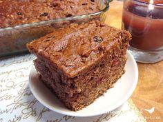Prairie Story- apple sauce cake with marachino cherries