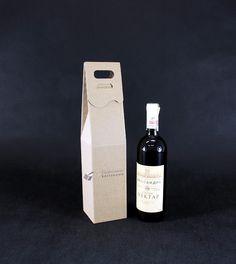 Opakowania do wina i kosze prezentowe dla Firm: Kartonik z logo Firmy
