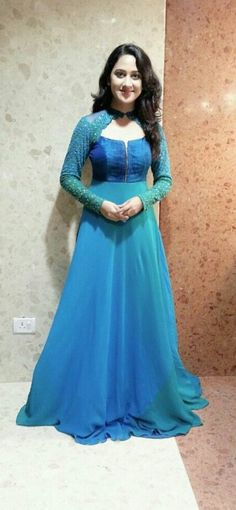 More @ admire Indian Gowns, Pakistani Dresses, Indian Outfits, Anarkali Dress, Lehenga, Stylish Dresses, Fashion Dresses, Saree Blouse Designs, Indian Designer Wear