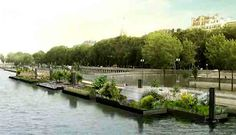 Floating Gardens, Giant Chalkboards, and Climbing Walls on Banks of Seine in Paris