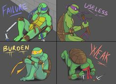 Everyone's got a weak spot. What's yours? I would be more like Raph. I am scared to be weak. ;-)