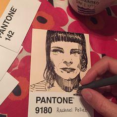 My @pantone portraits.#100pantonepostcards#pantone#pantoneproject#projectpantone#blueshineart#portraits inspired by the @sktchy App.