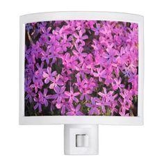 Pretty Purple Flowers Nightlight