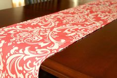 Add a pop of color to any table with this modern Damask Table Runner. $19.95 each from Modernality2