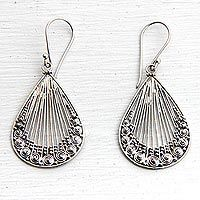 Discover unique handcrafted treasures. Every purchase will help UNICEF save and improve children's lives and help support talented artisans. Sterling silver dangle earrings, 'Peacock Feather'