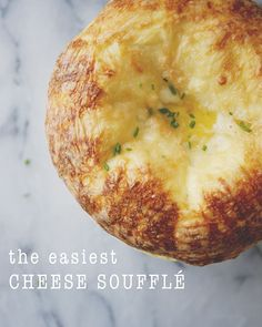 The easiest Cheese Souffle - #vegegtarian #recipe