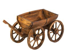 OFF - Fir Wood Apple Barrel Planter Wagon :: Make your yard bloom with rustic charm as the green leaves of your favorite potted plants or herbs peek out from this outdoor wagon decor. Product x x high. Product l Wagon Planter, Wheelbarrow Planter, Barrel Planter, Planter Boxes, Large Garden Planters, Wooden Planters, Planter Garden, Outdoor Planters, Outdoor Flowers