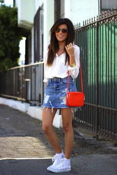 90's style, throwback, GUESS, sazan, barzani, kurdish, fashion, blogger, what is blogging, what is fashion, denim, skirt, white blouse, summer, style 2014, outfit ideas, casual outfit, cute outfit, beauty, hair ideas, makeup ideas, orange, converse, swedish style, inspiration, street style, GUESS, denim skirt, zara, nordstrom, marc jacobs, sunglasses, aviator sunglasses, ootd, affordable finds, looks for less, cute bloggers, middle eastern, chic style