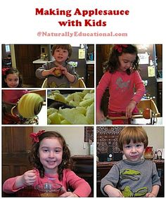 Making Applesauce with Kids | Naturally Educational #Apples #Fall #Autumn