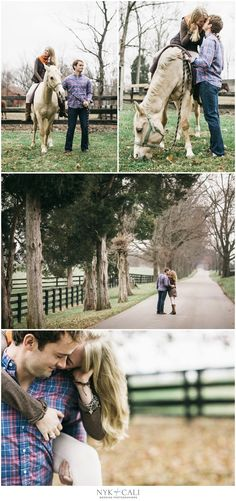 Nyk + Cali, Wedding Photographers | Louisville, KY | Engagement Session | Horse Barn | Family Farm | Posing with Couples
