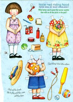 RESERVED FOR AUDREY Uncut Paper Doll by Mary Engelbreit Little Red Riding Hood. $1.96, via Etsy.