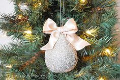 10 Handmade Ornaments to Hang on Your Tree. Glittery plastic fruits
