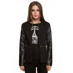 Black Meaneor Stylish Ladies Coat Jacket | cndirect.com