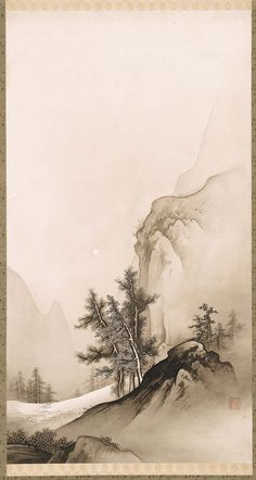 artemisdreaming: Landscape with Autumn Moon 1880s–1890s, Museum of Fine Arts, BostonAccession Number11.34893Hashimoto Gahô (Japanese, 1835–1908)