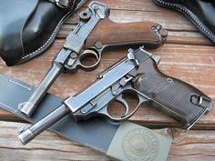 Walther P38, Luger P08.