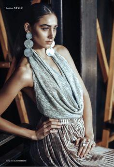 Handmade jewellery. Aluminum earrings. Silver ring