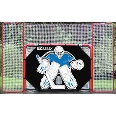 EZGoal Hockey Steel Goal With Backstop Foldable Removable Shooter Tutor Targets