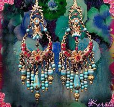 Wire Wrapped Boho Chandelier Earrings