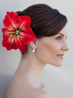 1000 Images About Flower Hair Accents On Pinterest Hair