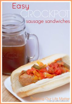 Easy Crockpot Sausage Sandwiches - Making Our Life Matter