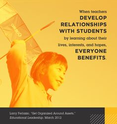"""Larry Ferlazzo, """"Get Organized Around Assets,"""" Educational Leadership, March 2012"""